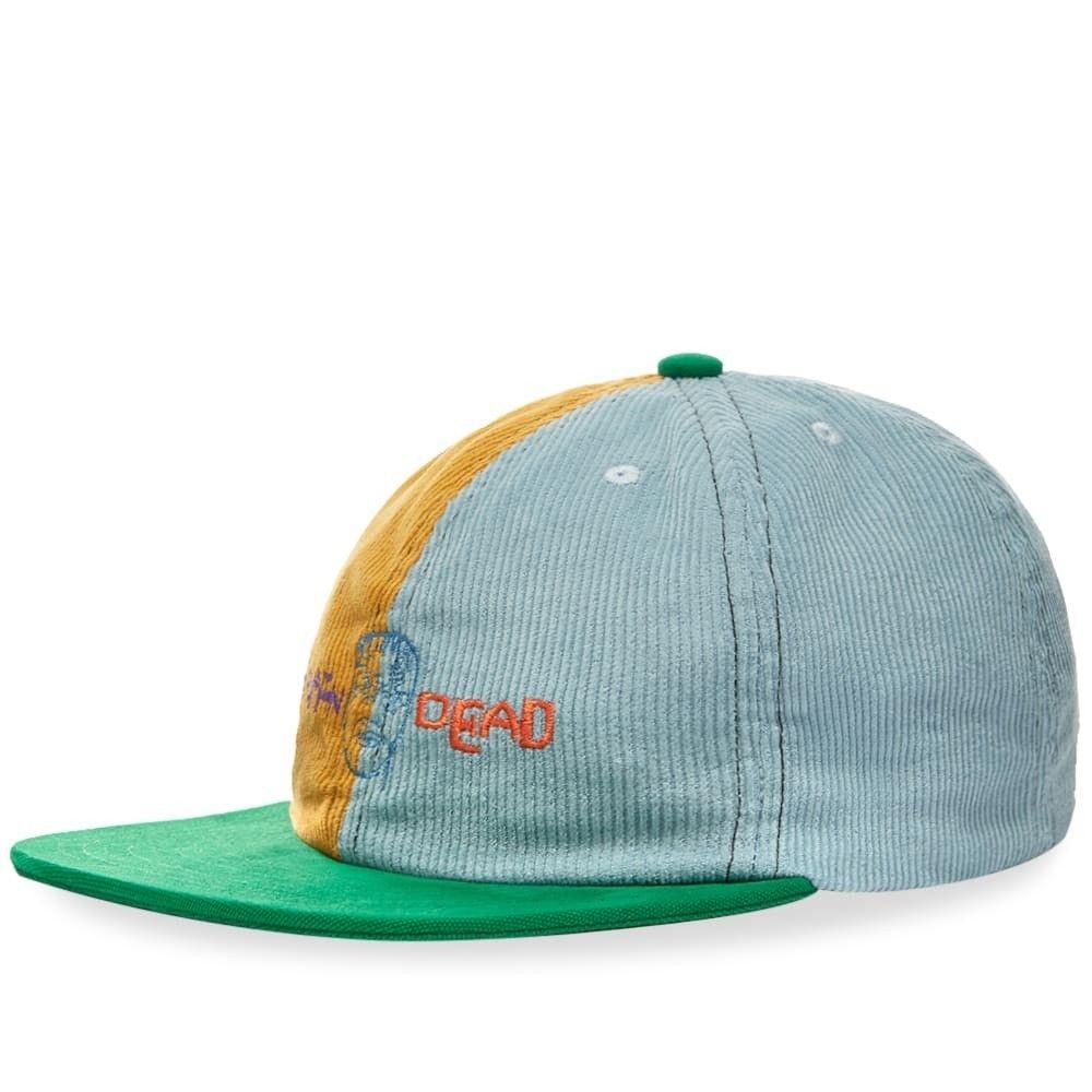 ブレインデッド メンズ 帽子 キャップ Yellow/Teal/Green 【サイズ交換無料】 ブレインデッド Brain Dead メンズ キャップ 帽子【Colour Block Strap Back Cap】Yellow/Teal/Green