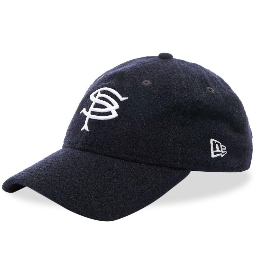 ソフネット メンズ 帽子 キャップ Navy 【サイズ交換無料】 ソフネット SOPHNET. メンズ キャップ 帽子【x New Era Wool 9Fifty Cap】Navy
