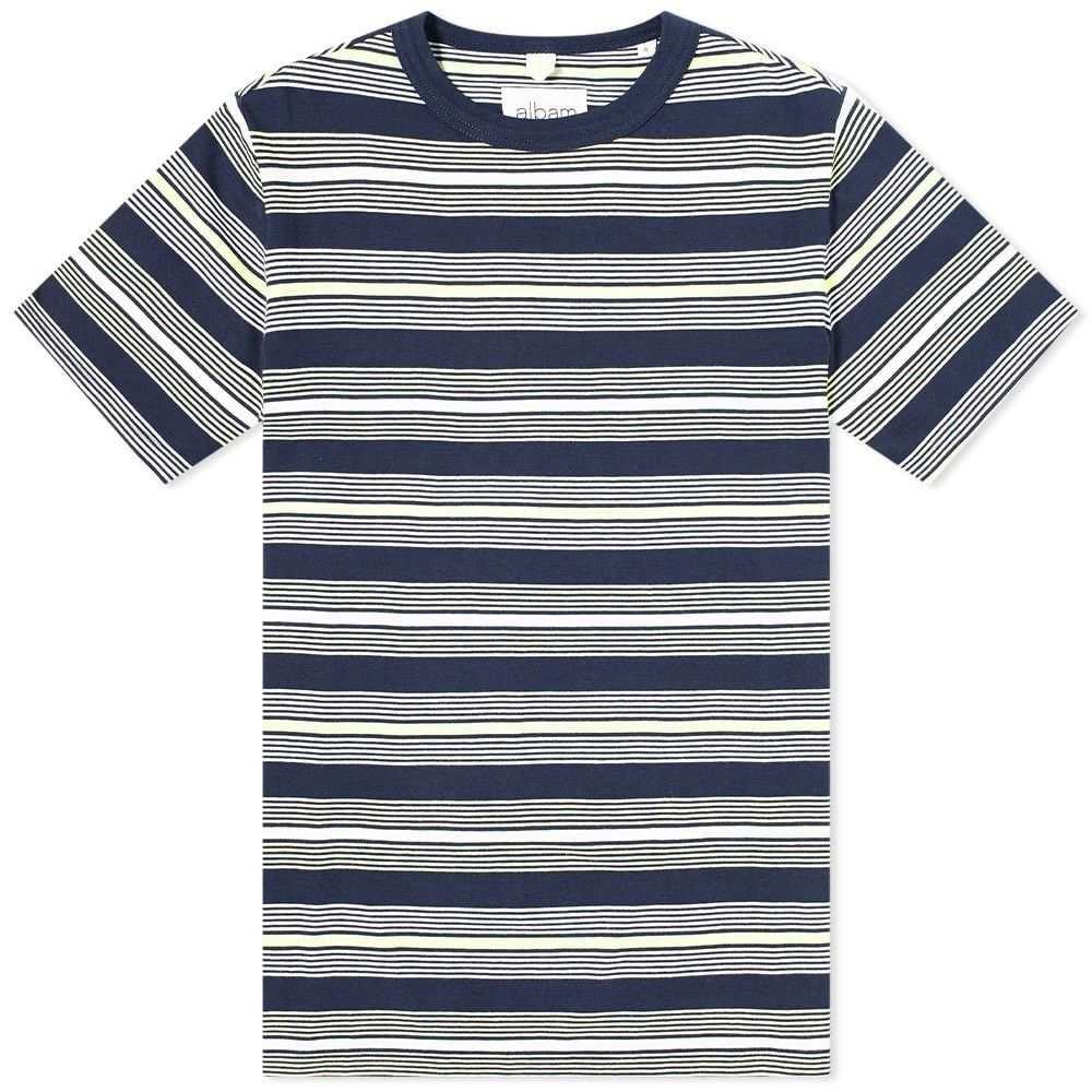 アルバム Albam メンズ Tシャツ トップス【Multi Striped Tee】Tarragon Stripe