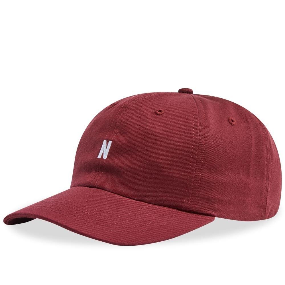ノースプロジェクト メンズ 帽子 キャップ Mulberry Red 【サイズ交換無料】 ノースプロジェクト Norse Projects メンズ キャップ 帽子【Twill Sports Cap】Mulberry Red