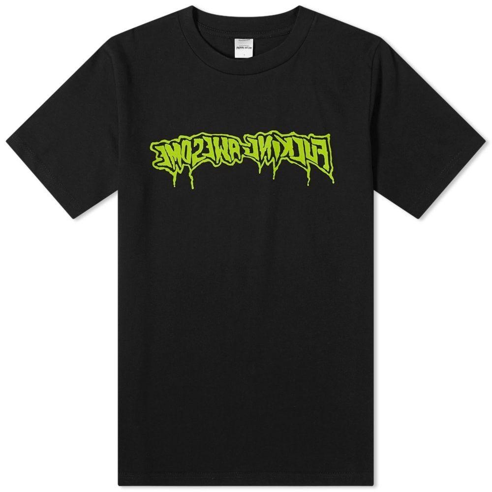 ファッキングオーサム Fucking Awesome メンズ Tシャツ トップス【Drip Stamp Tee】Black