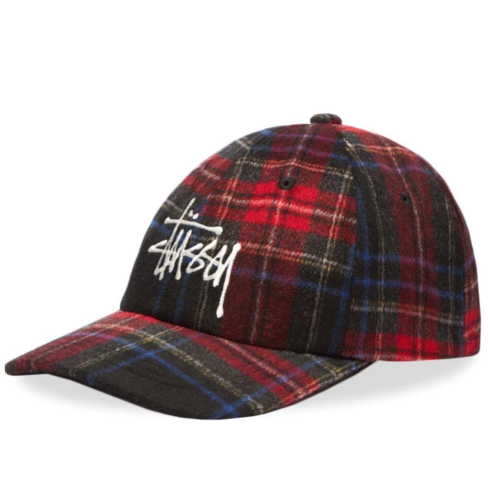 ステューシー メンズ 帽子 キャップ Black 【サイズ交換無料】 ステューシー Stussy メンズ キャップ 帽子【Big Logo Plaid Low Pro Cap】Black
