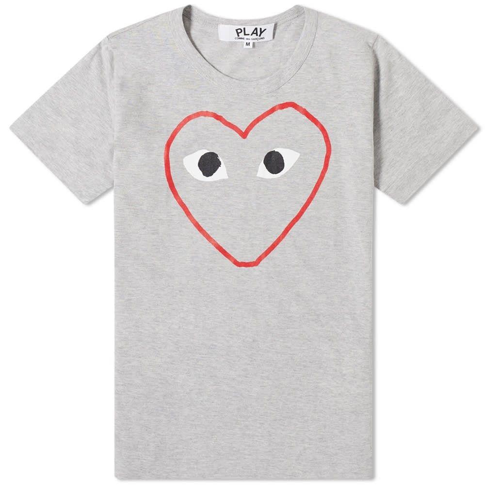 コム デ ギャルソン Comme des Garcons Play レディース Tシャツ トップス【Outline Heart Tee】Grey
