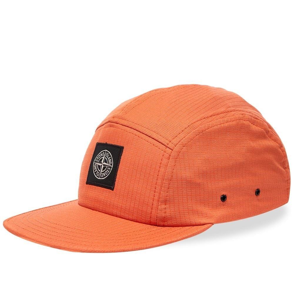 ストーンアイランド メンズ 帽子 キャップ Orange 【サイズ交換無料】 ストーンアイランド Stone Island メンズ キャップ 帽子【Reflective Weave Nylon 5 Panel Cap】Orange