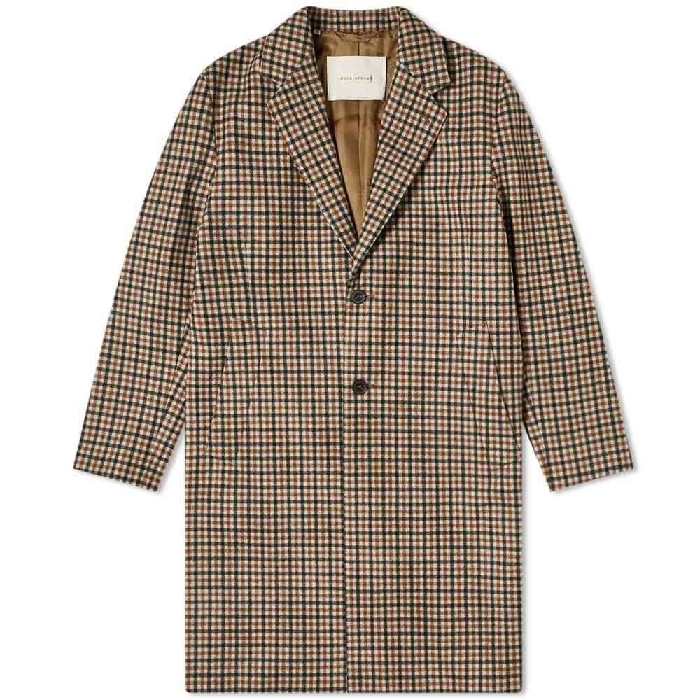 マッキントッシュ Mackintosh メンズ コート チェスターフィールドコート アウター【Stanley Loro Piana Check Chesterfield Coat】Black Check