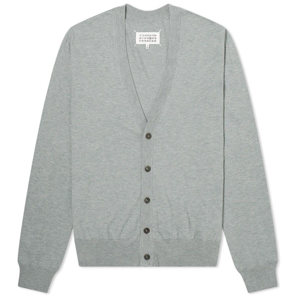 メゾン マルジェラ Maison Margiela メンズ カーディガン トップス【14 Classic Elbow Patch Cardigan】Grey
