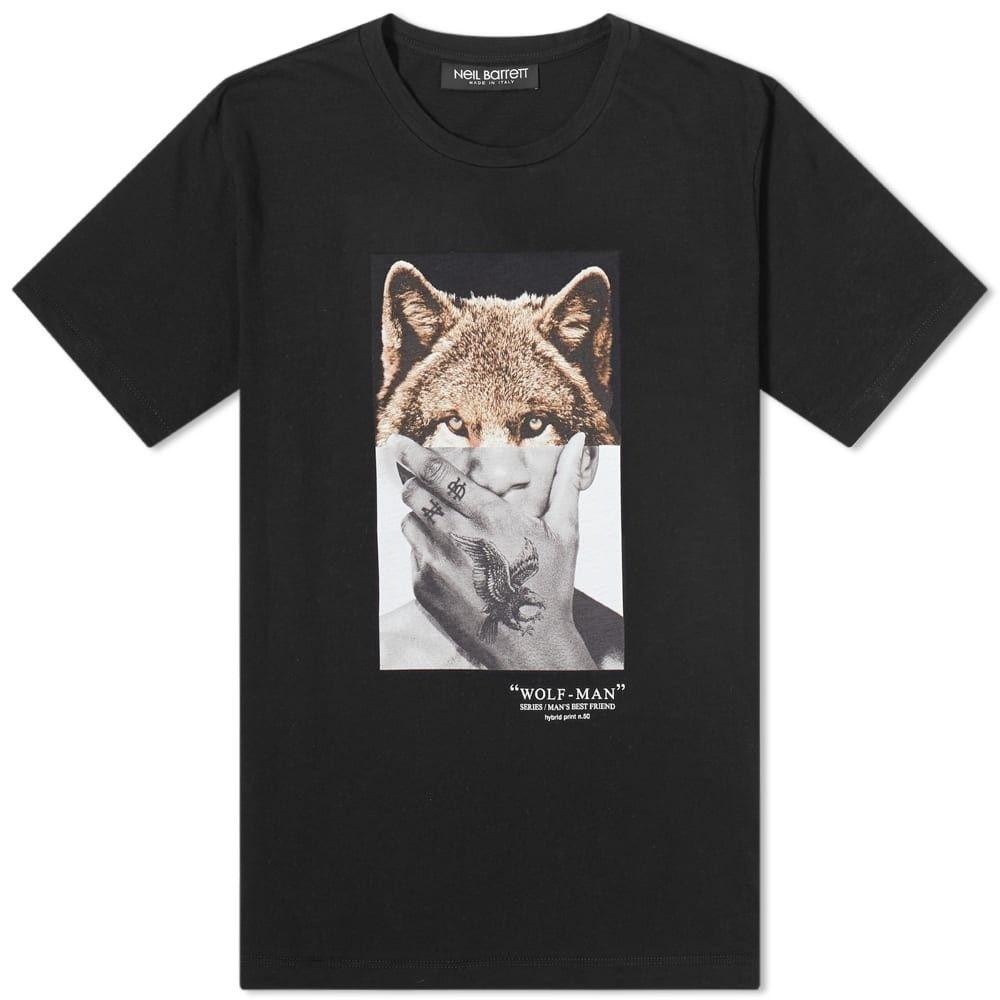 ニール バレット Neil Barrett メンズ Tシャツ トップス【Wolf-Man Tee】Black