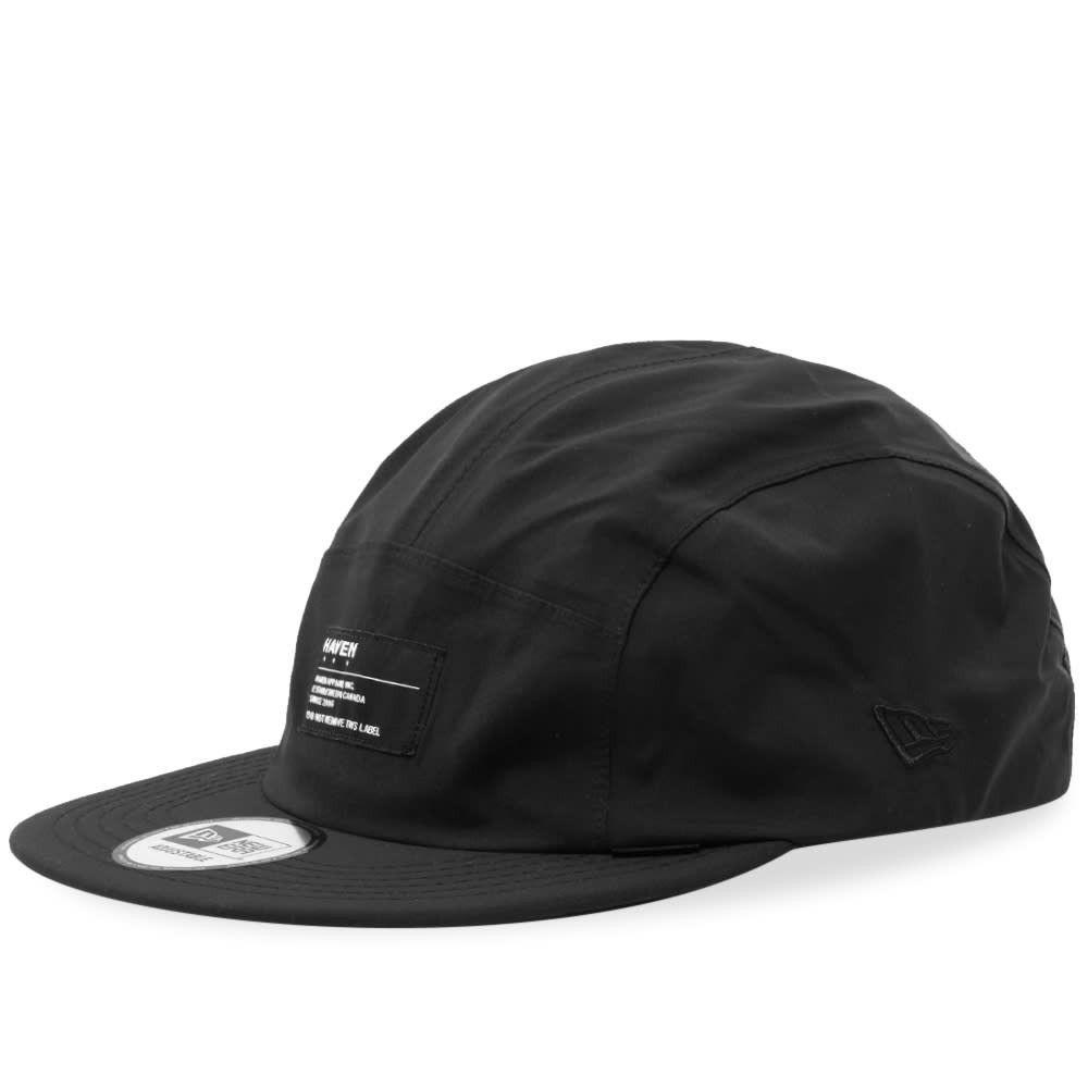 ヘブン メンズ 帽子 キャップ Black 【サイズ交換無料】 ヘブン HAVEN メンズ キャップ 5パネルキャップ 帽子【5 Panel Hat】Black