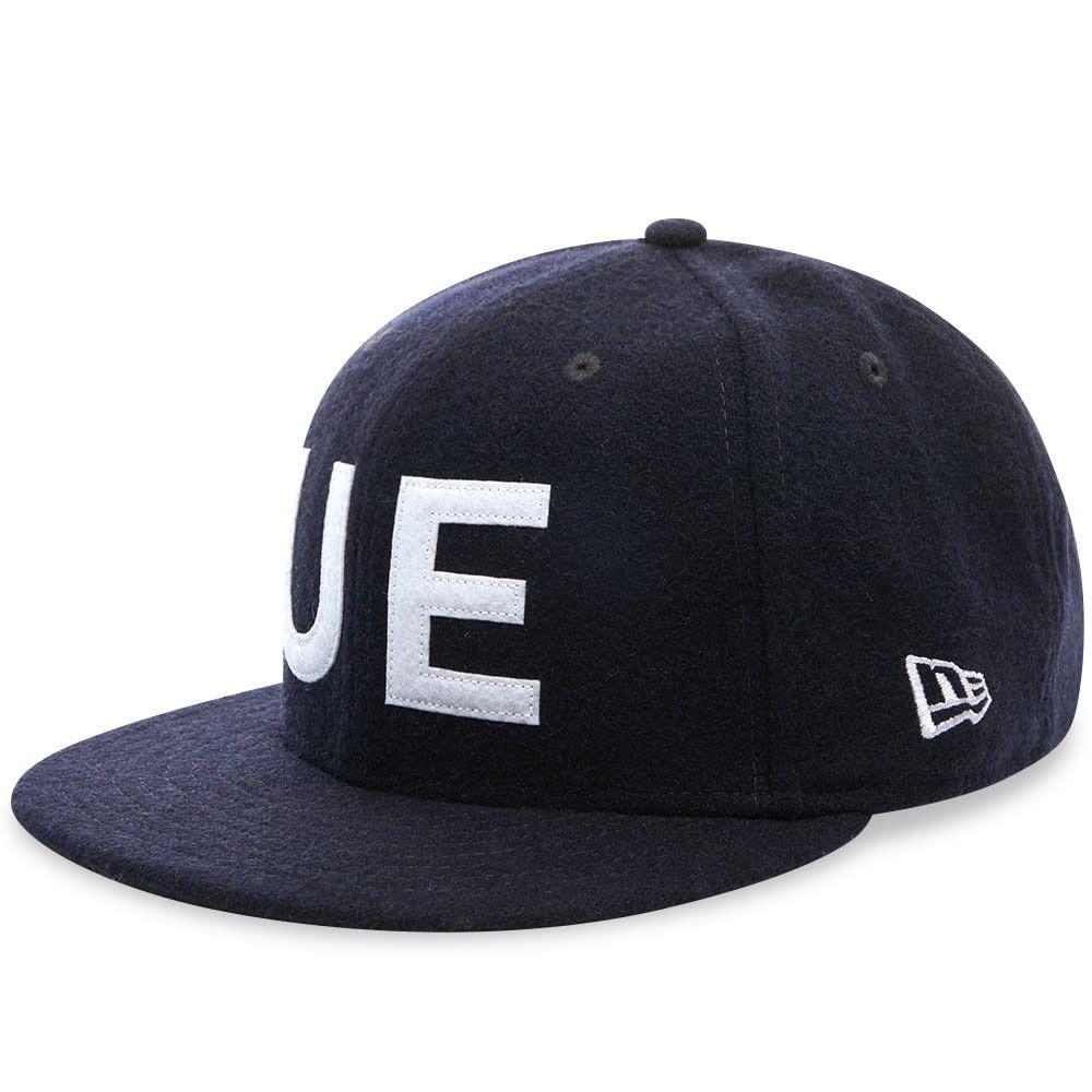 ユニフォームエクスペリメント メンズ 帽子 キャップ Navy 【サイズ交換無料】 ユニフォームエクスペリメント Uniform Experiment メンズ キャップ 帽子【New Era Wool Melton 9Fifty UE Cap】Navy