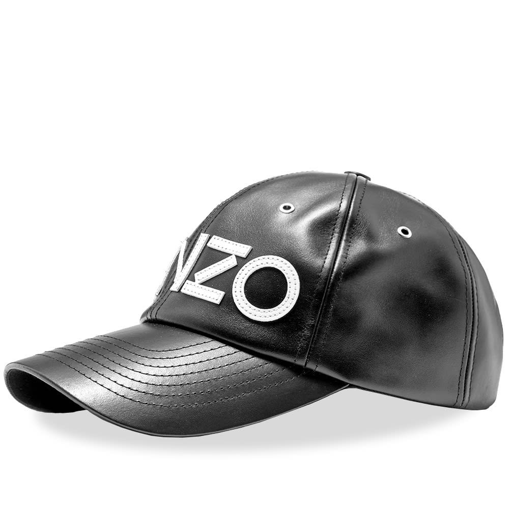 ケンゾー メンズ 帽子 キャップ Black 【サイズ交換無料】 ケンゾー Kenzo メンズ キャップ 帽子【Leather Logo Cap】Black