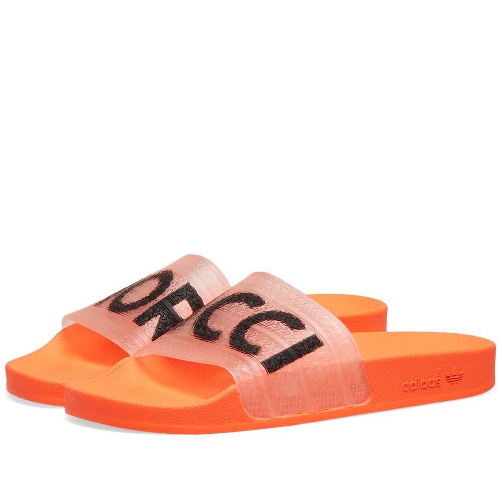アディダス Adidas レディース サンダル・ミュール シューズ・靴【x Fiorucci Adilette W】Solar Orange/Black