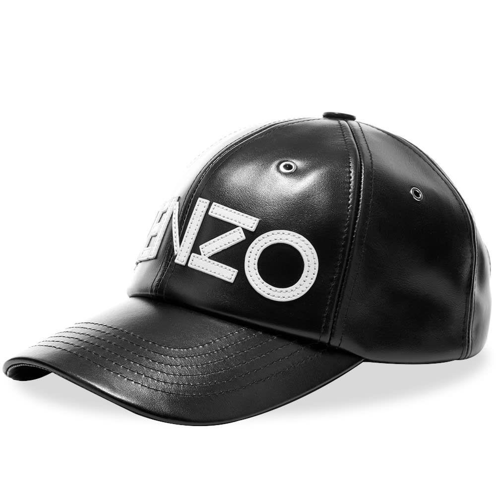 ケンゾー メンズ 帽子 キャップ Black 【サイズ交換無料】 ケンゾー Kenzo メンズ キャップ 帽子【Leather Tiger Cap】Black