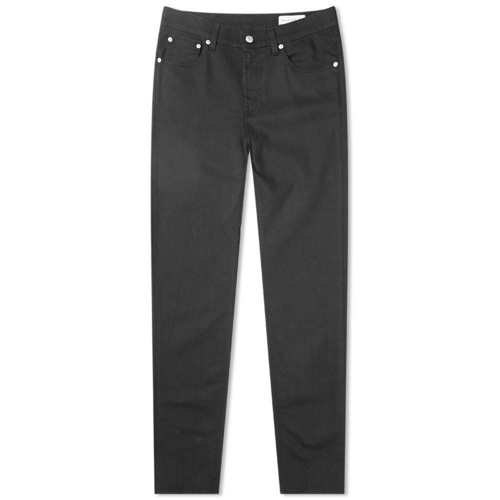 アレキサンダー マックイーン Alexander McQueen メンズ ジーンズ・デニム ボトムス・パンツ【Chain Stitch Pocket Logo Slim Jean】Black