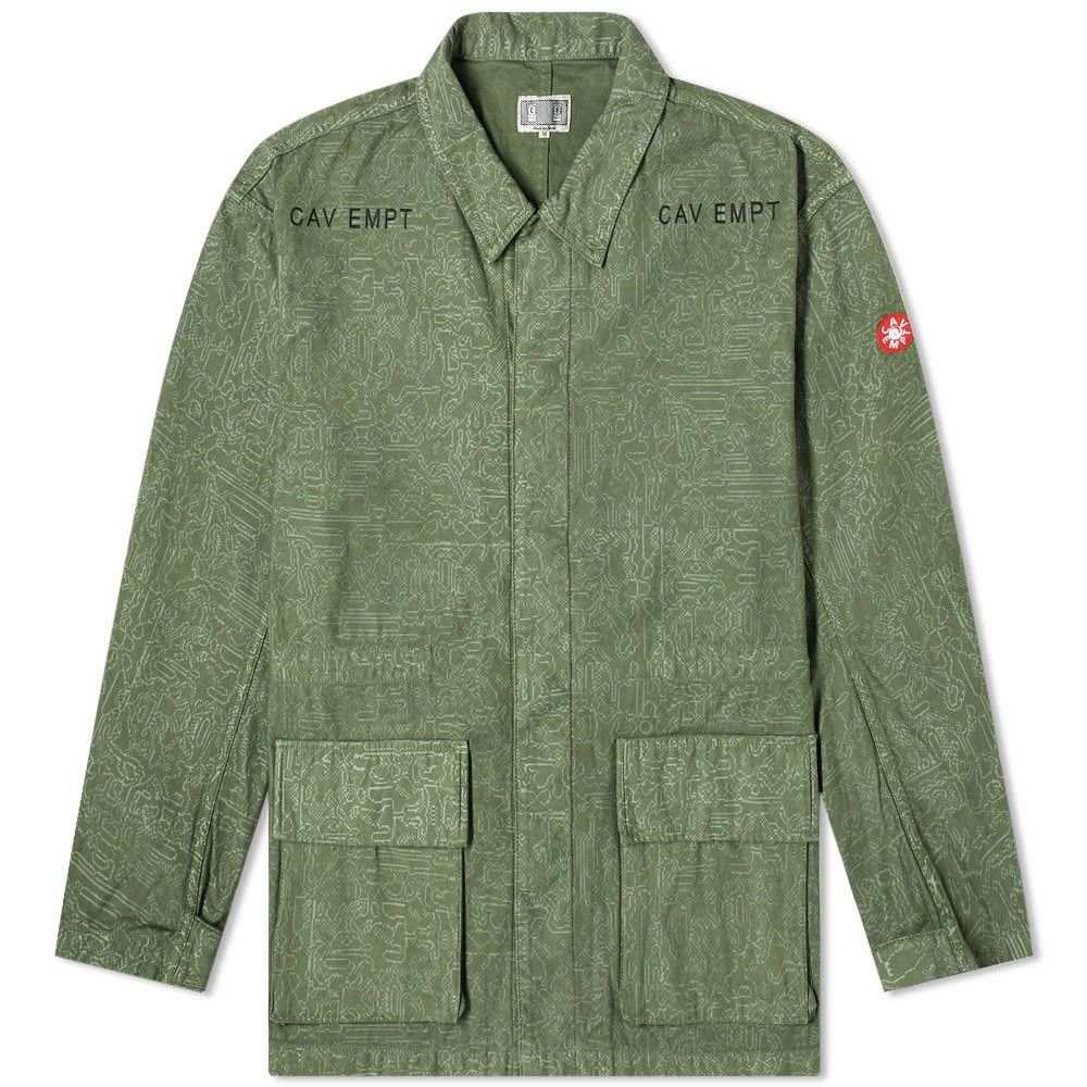 シーイー Cav Empt メンズ ジャケット ミリタリージャケット アウター【Grey Noise Military Jacket】Green