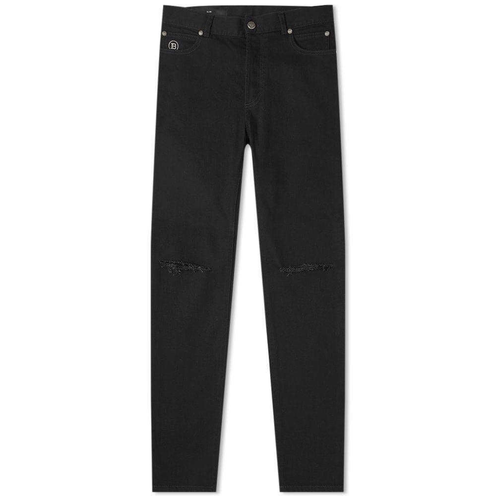 バルマン Balmain メンズ ジーンズ・デニム ボトムス・パンツ【Distressed Wash Slim Jean】Black