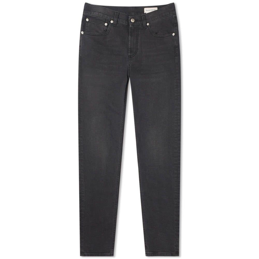 アレキサンダー マックイーン Alexander McQueen メンズ ジーンズ・デニム ボトムス・パンツ【Chain Stitch Pocket Logo Slim Jean】Grey