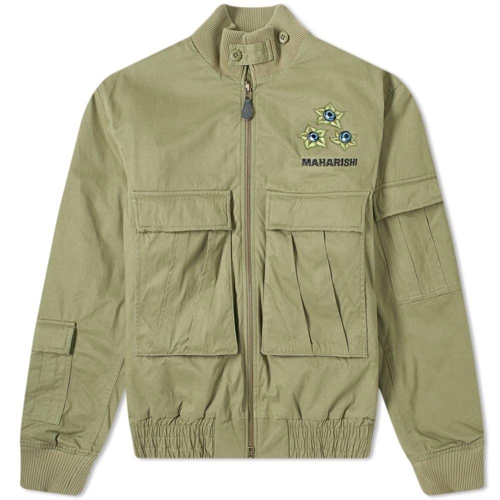 マハリシ Maharishi メンズ ジャケット アウター【G-8 Pax Psychotria Embroidered Jacket】Olive