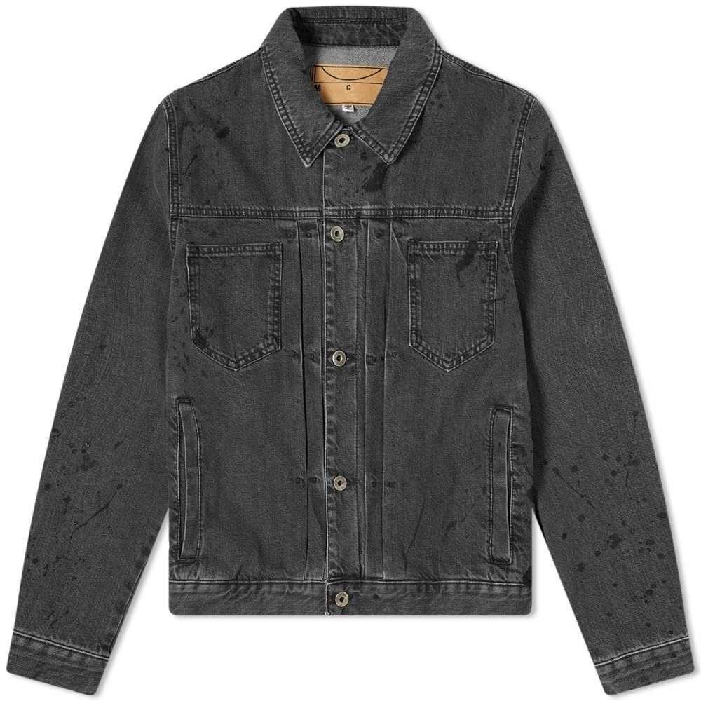 アレキサンダー マックイーン McQ Alexander McQueen メンズ ジャケット Gジャン アウター【Pleated Denim Jacket】Painted Black
