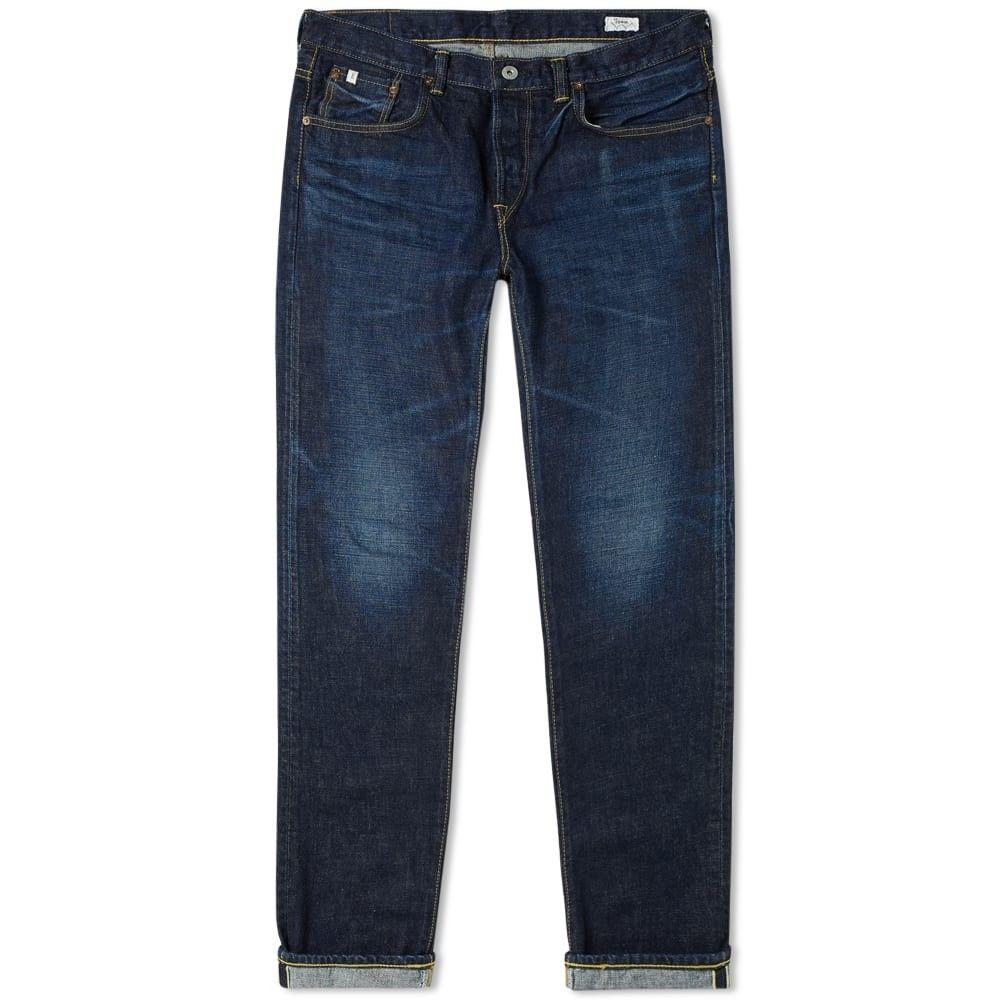エドウィン Edwin メンズ ジーンズ・デニム ボトムス・パンツ【E-Standard Regular Tapered Jean】Mid Dark Nihon Menpu Selvedge