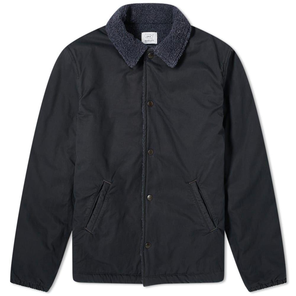 セーブカーキユナイテッド Save Khaki メンズ ジャケット アウター【Sherpa Lined Warm Up Jacket】Slate