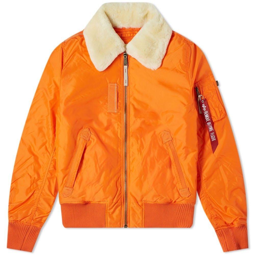 アルファ インダストリーズ Alpha Industries メンズ ジャケット アウター【Injector III Jacket】Flame Orange