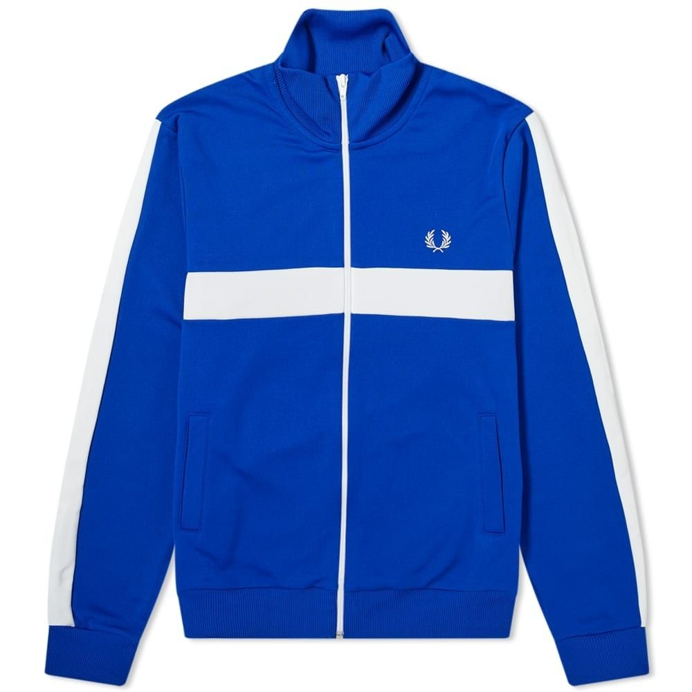 フレッドペリー Fred Perry Authentic メンズ ジャージ アウター【Fred Perry Contrast Stripe Track Top】Bright Regal