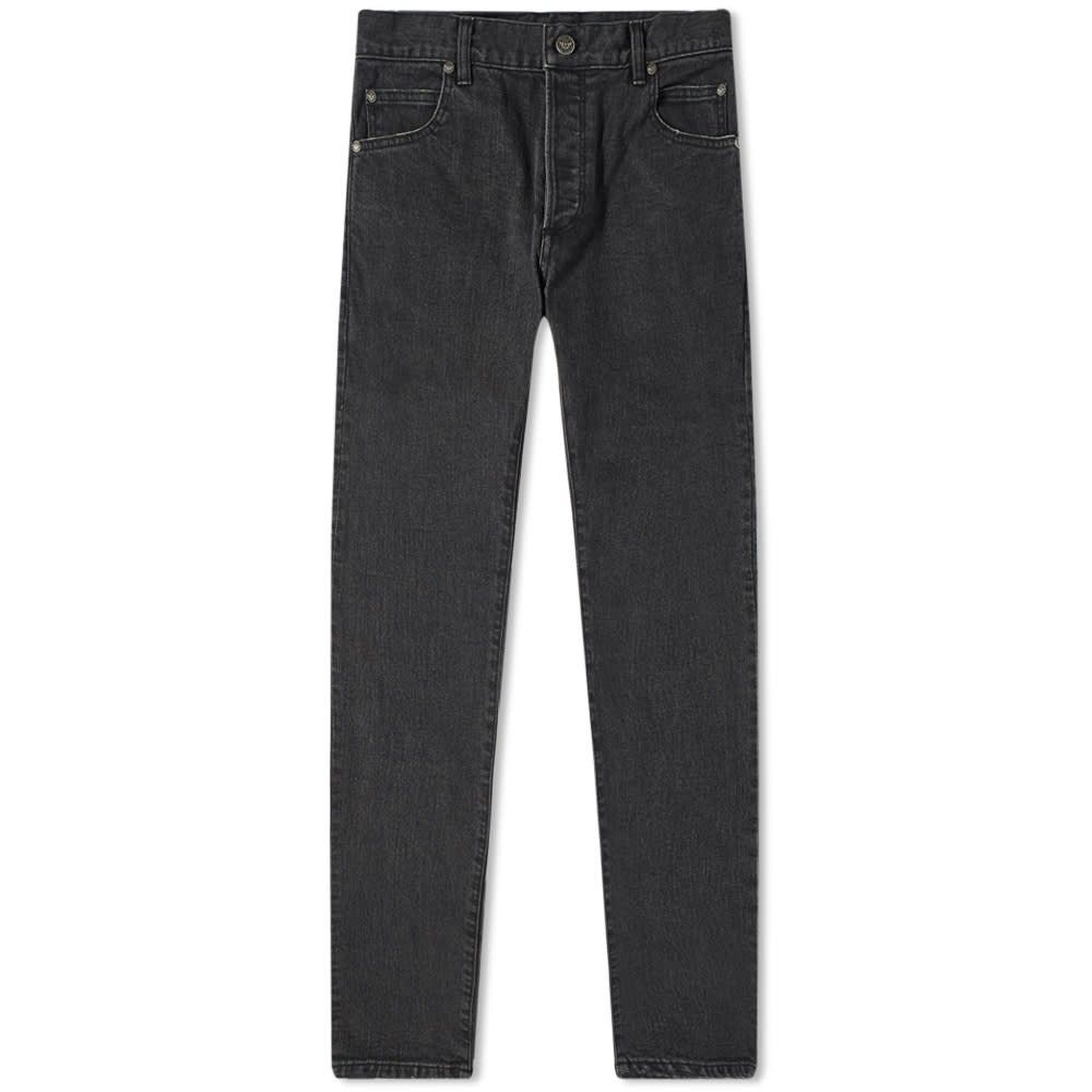 バルマン Balmain メンズ ジーンズ・デニム ボトムス・パンツ【Monogram Embossed Pocket Slim Jean】Black
