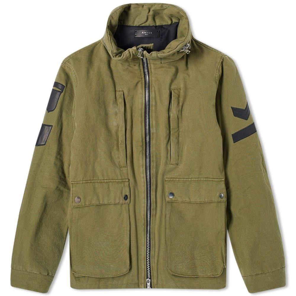 アミリ AMIRI メンズ ジャケット スタンドカラー ミリタリージャケット アウター【Military Stand Collar Jacket】Green
