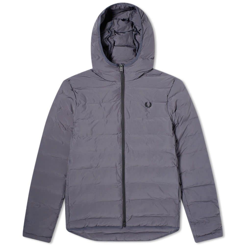 フレッドペリー Fred Perry Authentic メンズ ジャケット フード アウター【Insulated Hooded Jacket】Charcoal