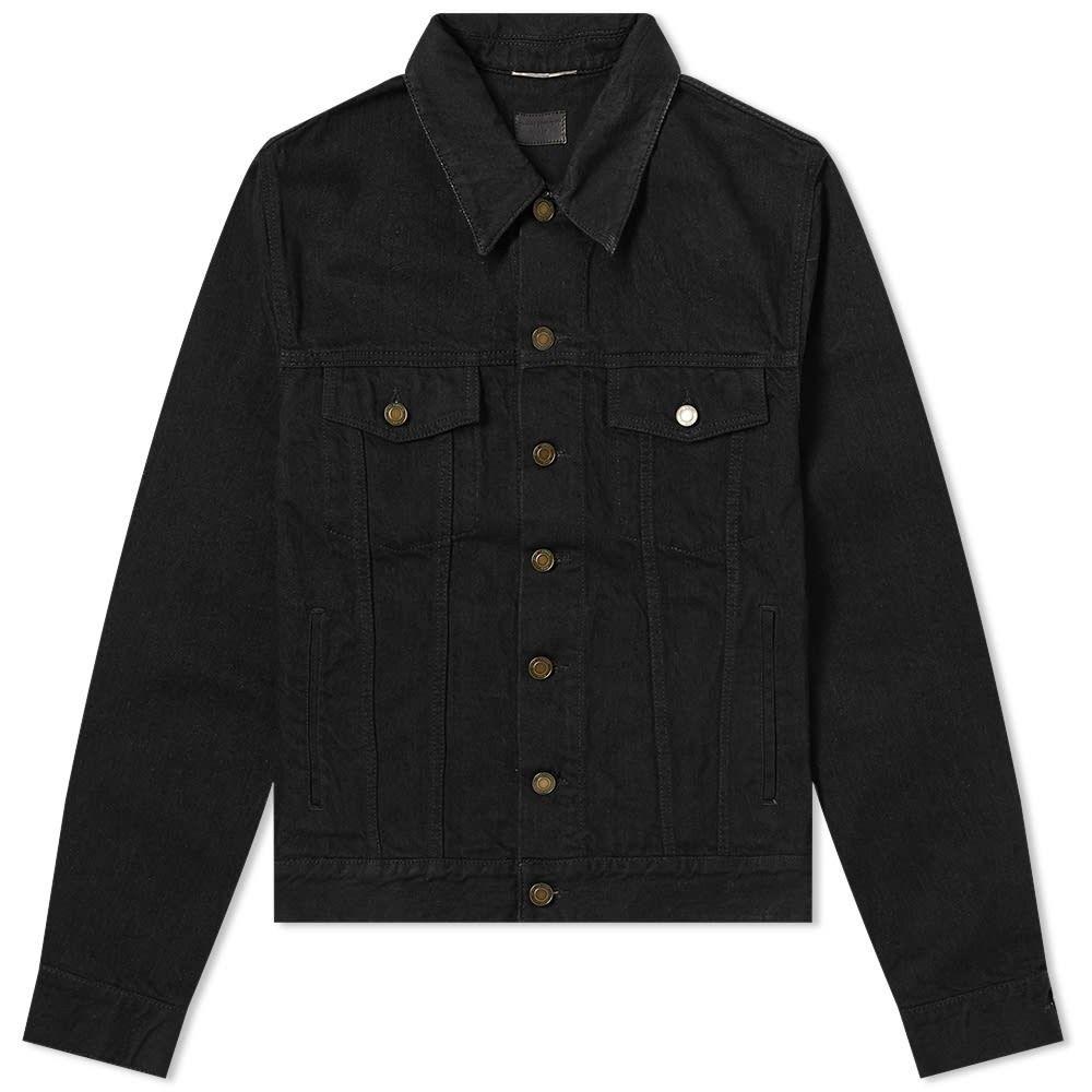 イヴ サンローラン Saint Laurent メンズ ジャケット Gジャン アウター【Denim Jacket】Worn Black
