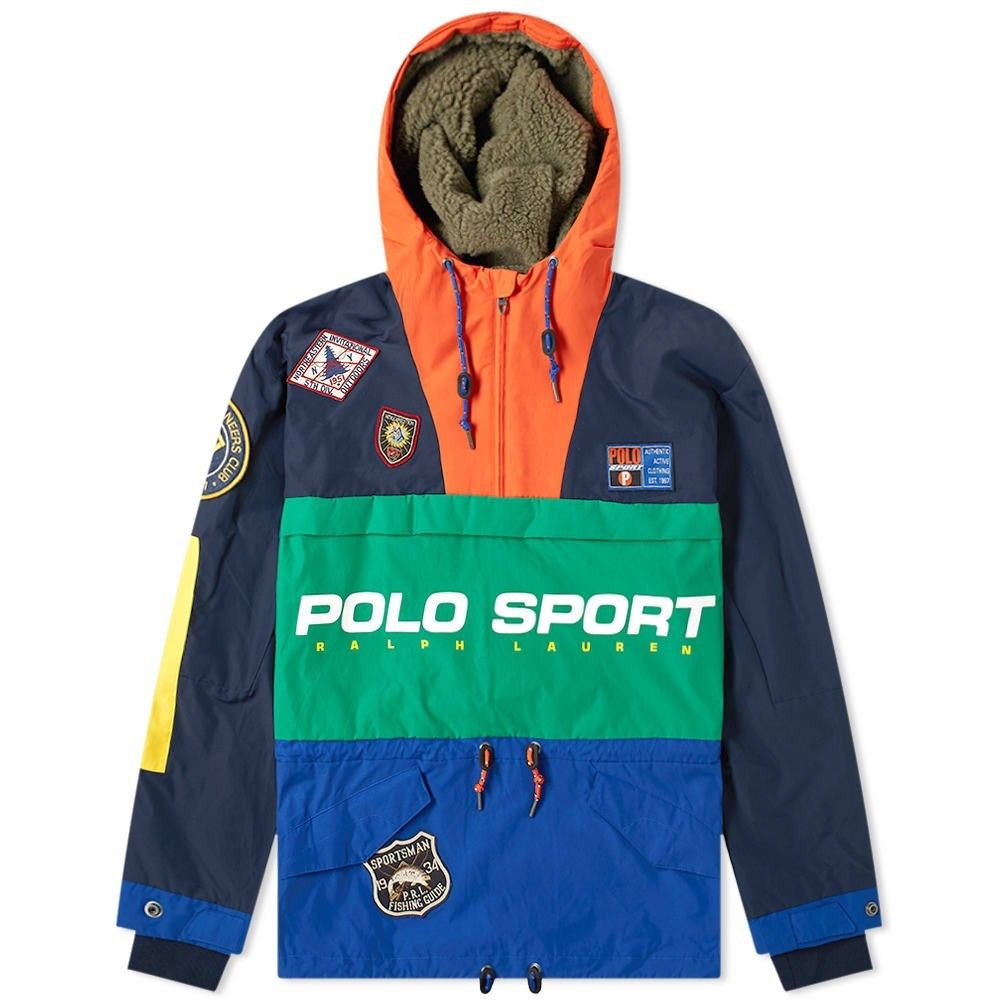 ポロスポーツ Polo Sport メンズ ジャケット フード アウター【Polo Ralph Lauren Sportsman Patched Hooded Jacket】Navy/Green/Sapphire
