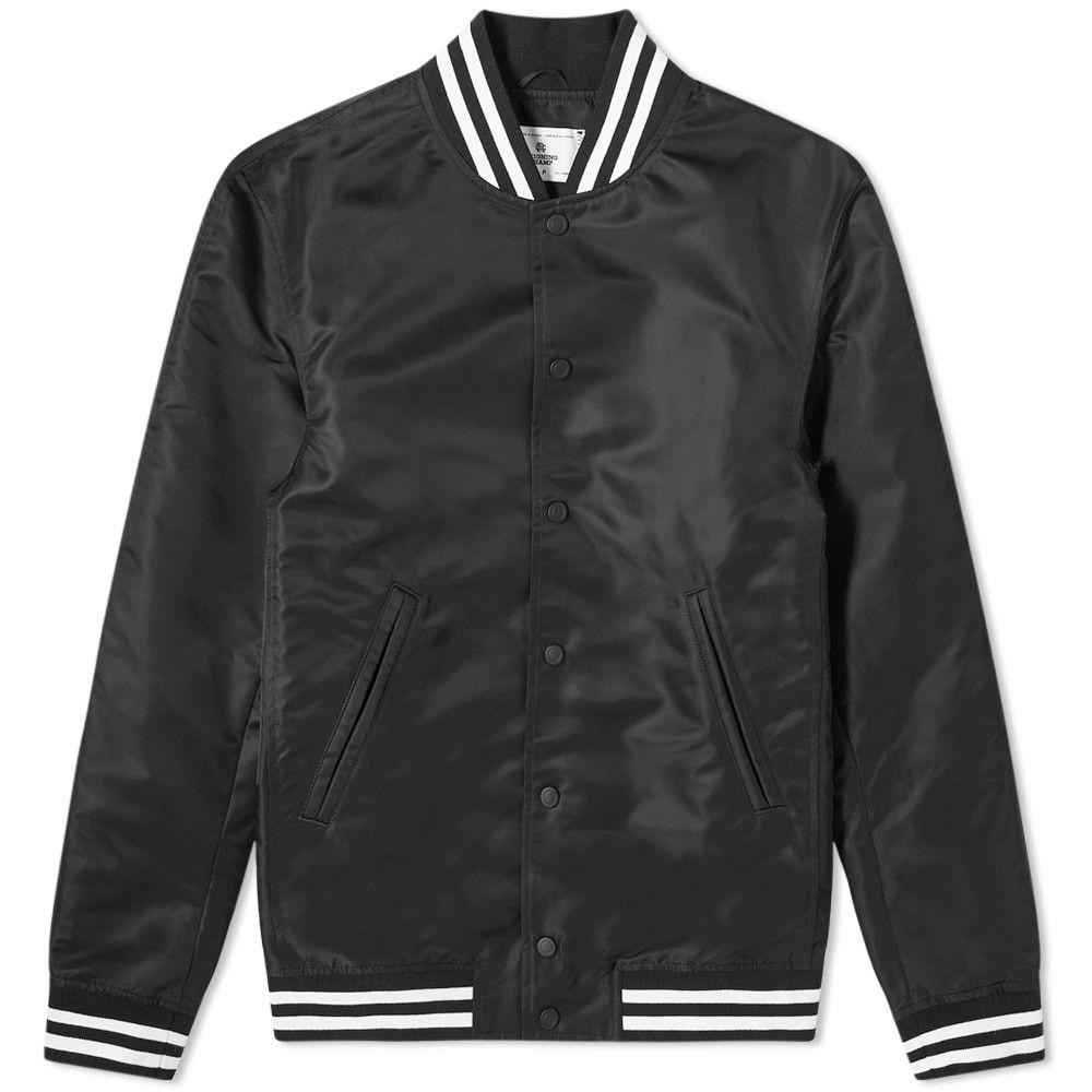 レイニングチャンプ Reigning Champ メンズ ジャケット スタジャン アウター【Embroidered Logo Stadium Jacket】Black