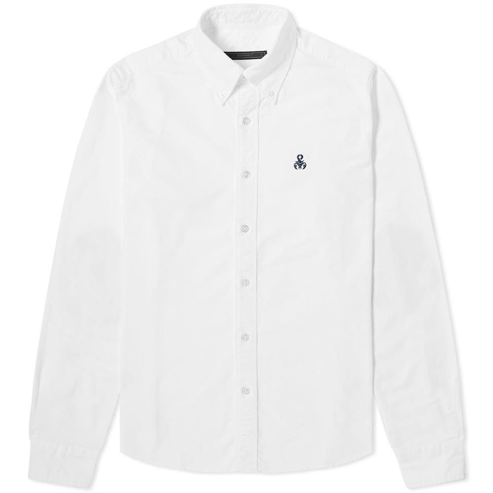 ソフネット SOPHNET. メンズ シャツ トップス【Elbow Patch Shirt】White