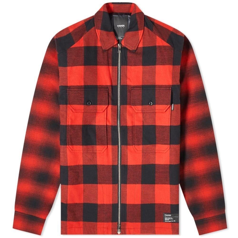 ヘブン HAVEN メンズ シャツ フランネルシャツ トップス【Mechanic Insulated Flannel Shirt】Red