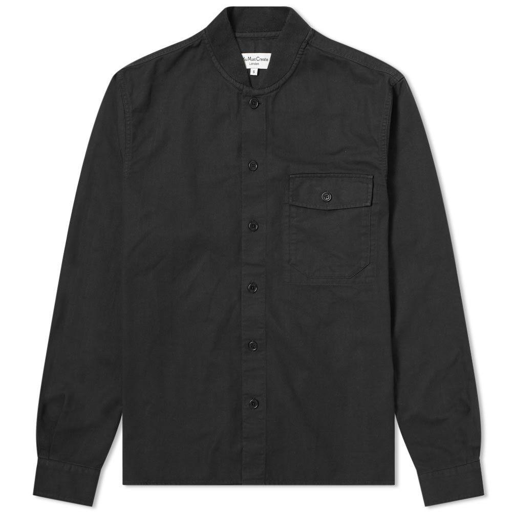 ワイエムシー YMC メンズ シャツ トップス【Delinquents Rib Collar Shirt】Black