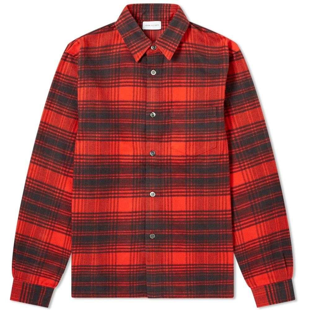 ジョン エリオット John Elliott メンズ シャツ トップス【Straight Hem Shirt】Red/Black Plaid