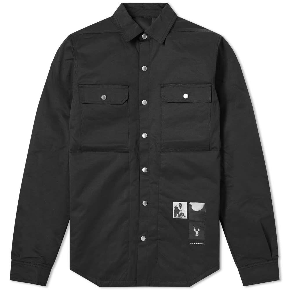 リック オウエンス Rick Owens メンズ ジャケット オーバーシャツ アウター【DRKSHDW Nylon Padded Overshirt】Black