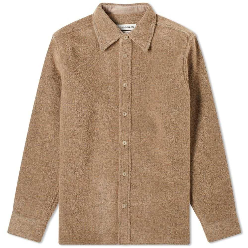 ア カインド オブ ガイズ A Kind of Guise メンズ ジャケット オーバーシャツ アウター【Dullu Overshirt】Brown Sugar
