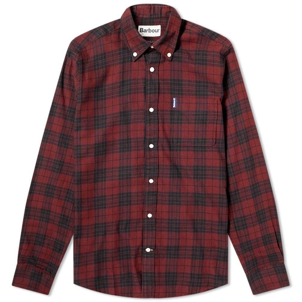 バブアー Barbour メンズ シャツ トップス【Country Check 7 Tailored Shirt】Merlot