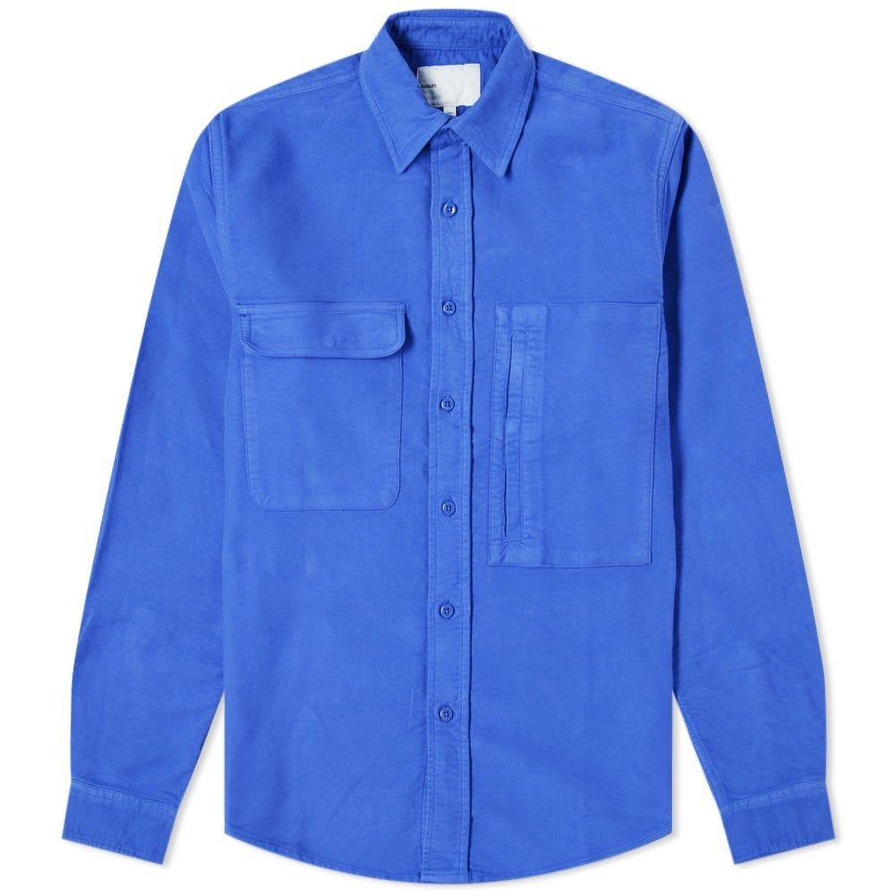 アドサム Adsum メンズ シャツ ワークシャツ トップス【Italian Moleskin Workshirt】Electric Periwinkle