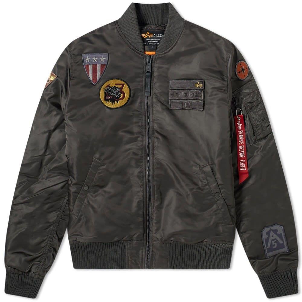 アルファ インダストリーズ Alpha Industries メンズ ジャケット アウター【MA-1 Air Force Jacket】Grey Black