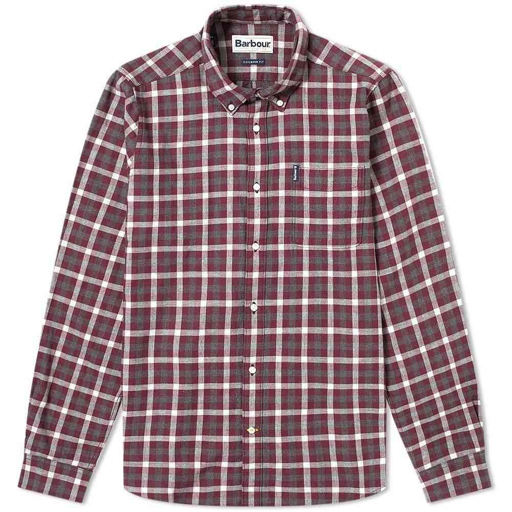 バブアー Barbour メンズ シャツ トップス【Gingham 16 Tailored Shirt】Merlot