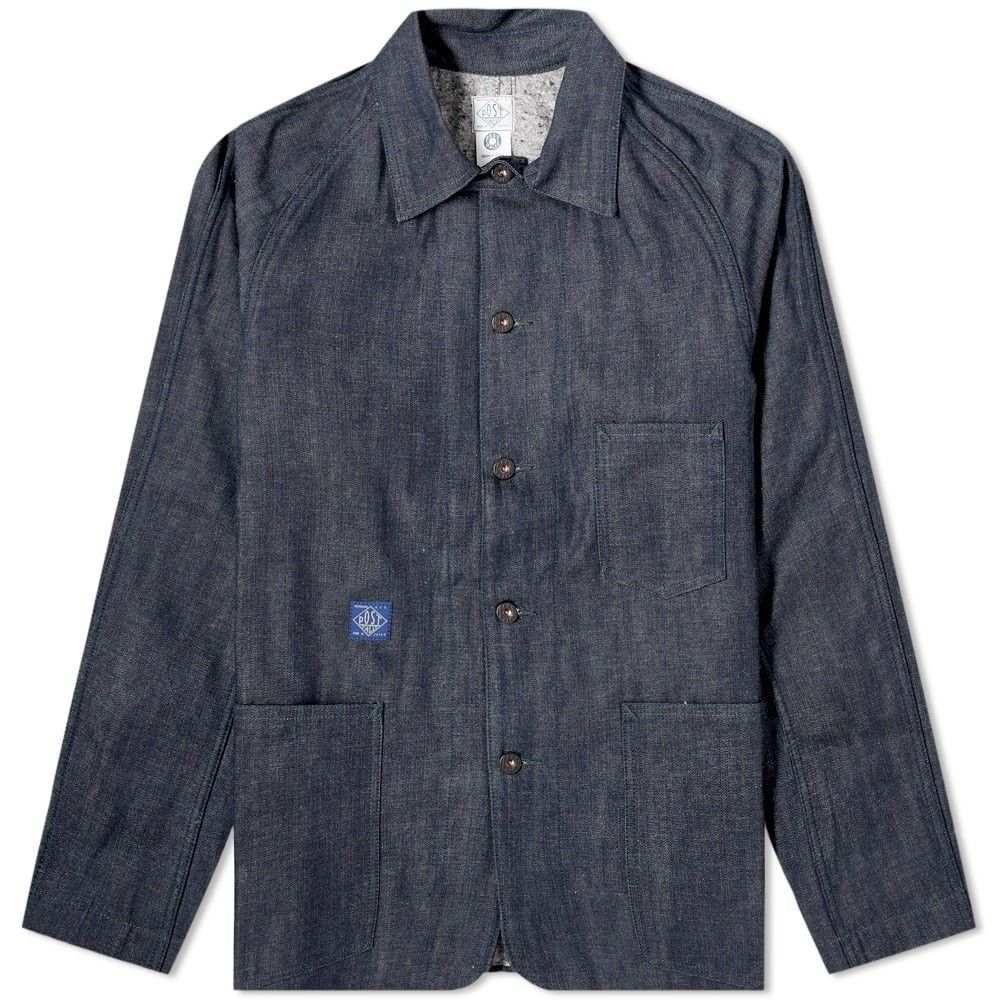 ポストオーバーオールズ Post Overalls メンズ ジャケット Gジャン アウター【Denim 41-R Railroad Jacket】Indigo