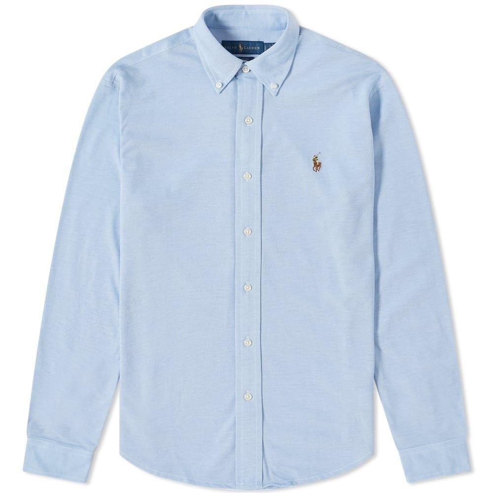 ラルフ ローレン Polo Ralph Lauren メンズ シャツ トップス【Button Down Oxford Pique Shirt】Harbour Island Blue