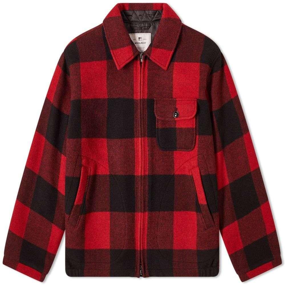 ウールリッチ Woolrich メンズ ジャケット オーバーシャツ アウター【Buffalo Zip Overshirt】Red Buffalo