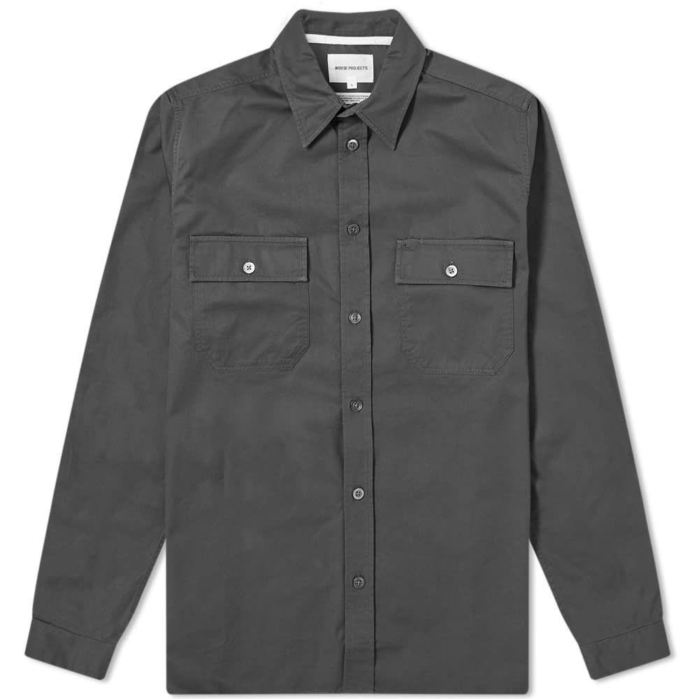 ノースプロジェクト Norse Projects メンズ シャツ トップス【Villads Panelled Pocket Shirt】Slate Grey