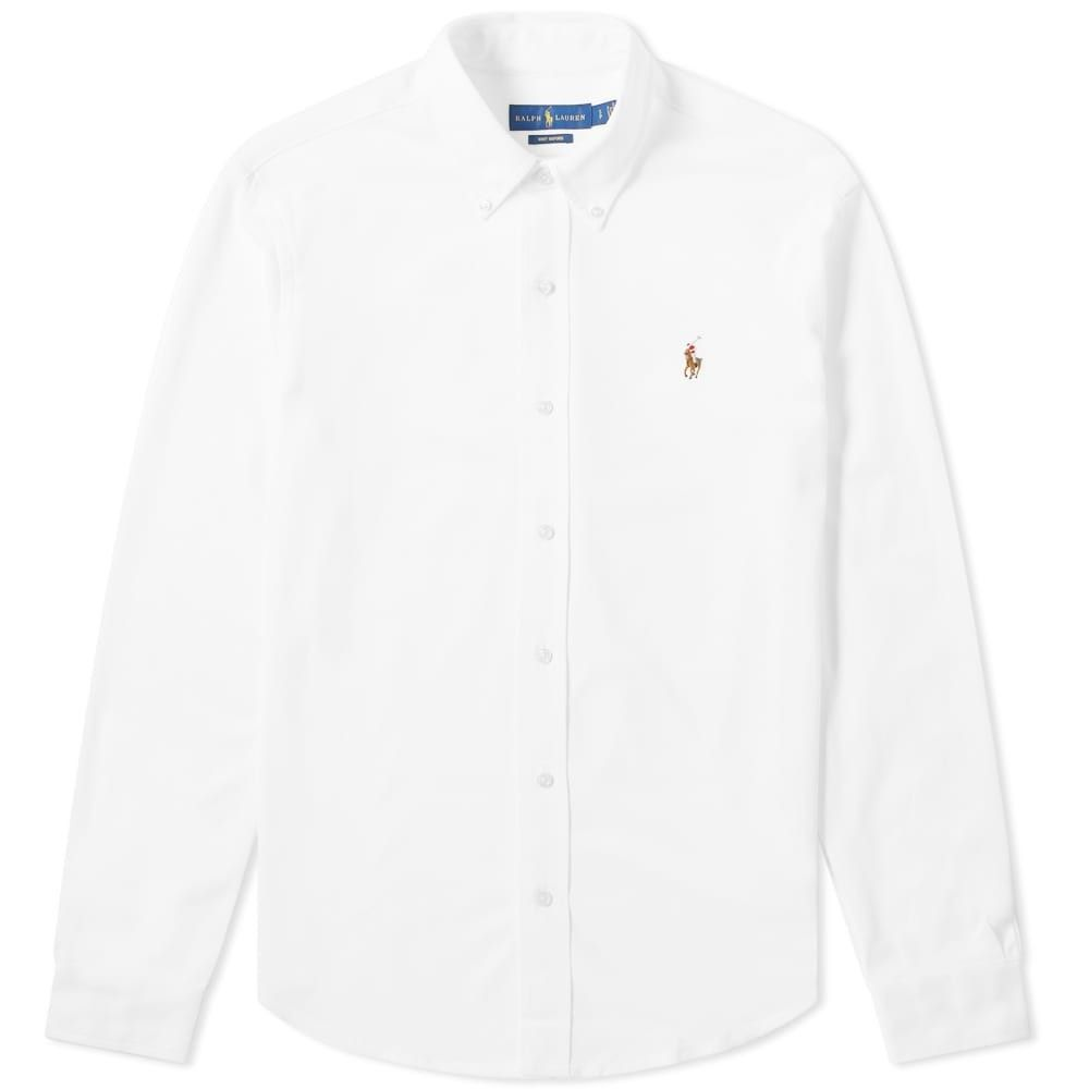 ラルフ ローレン Polo Ralph Lauren メンズ シャツ トップス【Button Down Oxford Pique Shirt】White