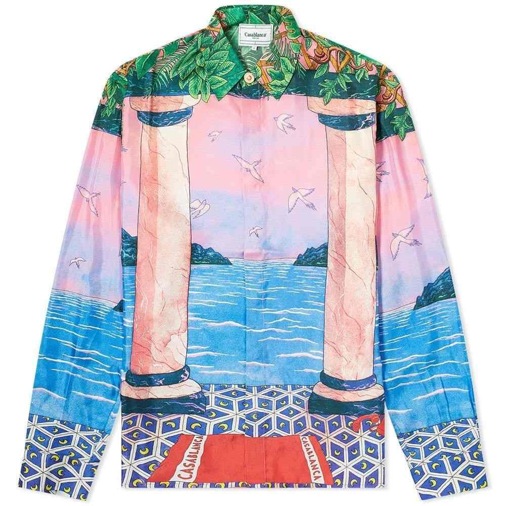 カサブランカ Casablanca メンズ シャツ トップス【Moca Sunset Silk Shirt】Mix