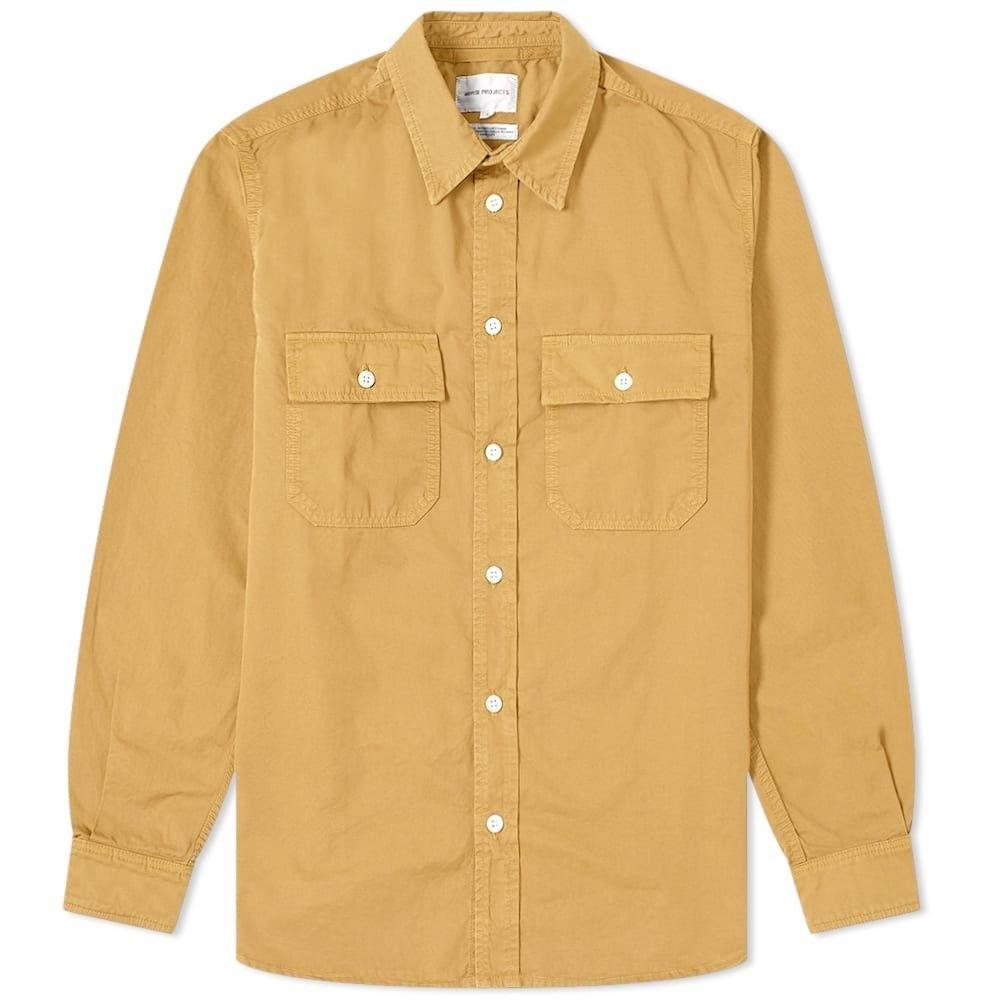 ノースプロジェクト Norse Projects メンズ シャツ トップス【Villads Twill Shirt】Montpellier Yellow
