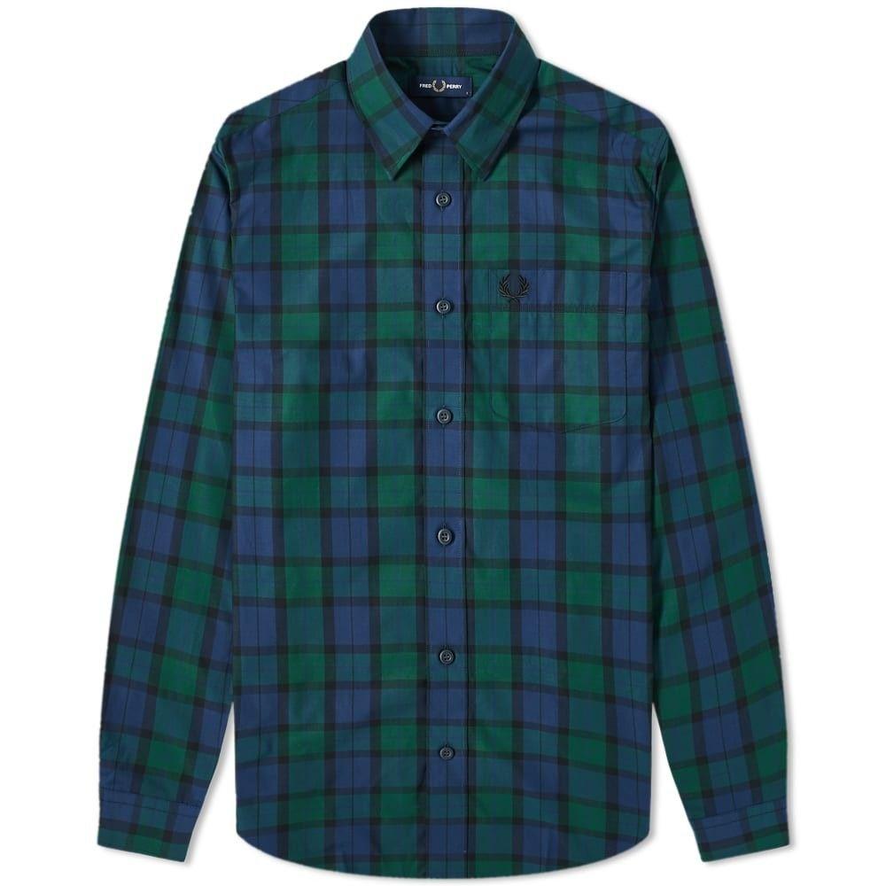 フレッドペリー Fred Perry Authentic メンズ シャツ トップス【Fred Perry Button Down Tartan Shirt】Tartan Green